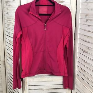 LULULEMON | Pink Mesh Long Sleeve Zip Up